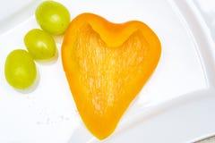 nya orange peppar Arkivfoto
