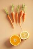Nya orange signalgrönsaker Arkivbild