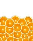 nya orange skivor Arkivbilder