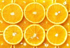 nya orange skivor Royaltyfri Bild