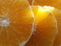 nya orange skivor Royaltyfri Fotografi