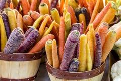 Nya organiska frukter och grönsaker på bondemarknaden Royaltyfri Fotografi