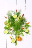 Nya organiska grönsaker och örter Royaltyfri Bild
