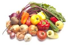 nya organiska sommargrönsaker Arkivbilder