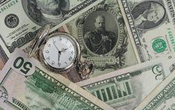 Nya pengar för gamla pengar, USD, Tid värde Fotografering för Bildbyråer