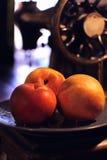 nya persikor tre Arkivfoto