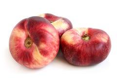 Nya plana persikafrukter Fotografering för Bildbyråer