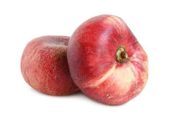 Nya plana persikafrukter Arkivbilder