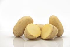 Nya potatisar   Arkivbilder