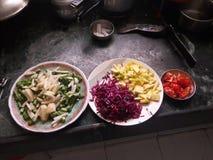 nya rå grönsaker Fotografering för Bildbyråer