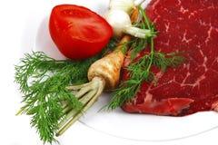 nya rå steakgrönsaker Royaltyfri Bild