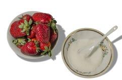nya röda jordgubbar Arkivbilder