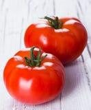 nya röda tomater två Royaltyfria Bilder