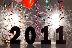 nya år för garneringhelgdagsafton Arkivfoton