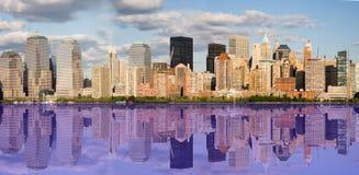 nya reflexioner york för stad royaltyfri bild