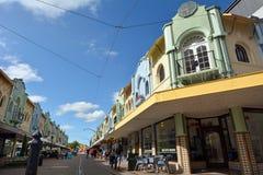 Nya Regent Street i Christchurch - Nya Zeeland Arkivfoton