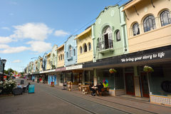 Nya Regent Street i Christchurch - Nya Zeeland Royaltyfri Bild