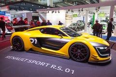 Nya Renault Sport R S 01 på IAAEN 2015 Arkivfoto