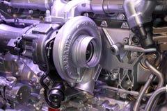 Nya Renault Truck motorn Fotografering för Bildbyråer