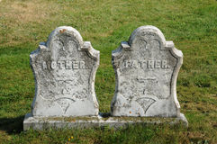 Nya Richmond, gravestone i den St Andrew kyrkogården arkivfoto