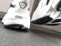 nya running skor för märkescloseup Royaltyfri Foto