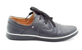 nya s skor för svart man Royaltyfria Bilder