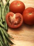 nya saftiga tomater för bönor Royaltyfri Fotografi