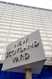 Nya Scotland Yard som bygger, London, Arkivbilder