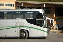 Nya Skåne 15 meter buss av det Greenbus företaget Arkivbilder