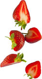 nya skivade jordgubbar Royaltyfria Bilder