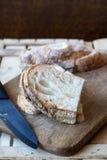 nya skivor för bröd Arkivbild