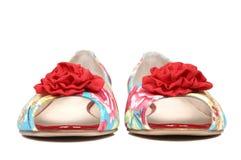 nya skor för kvinnlig Arkivbilder
