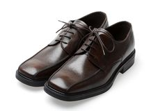 nya skor för läder royaltyfri bild