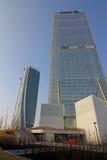 Nya skyskrapor på CItylife; Milan Italien Arkivfoton