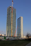 Nya skyskrapor på CItylife; Milan Italien Arkivbilder