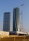 Nya skyskrapor på CItylife; Milan Italien Royaltyfria Bilder