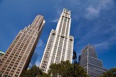 nya skyskrapor york för stad royaltyfria foton