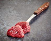 Nya snitt för rått kött Fotografering för Bildbyråer