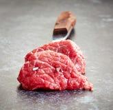 Nya snitt för rått kött Royaltyfri Bild
