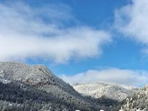 nya snowfall fotografering för bildbyråer