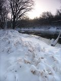 Nya snowfall i Illinois Royaltyfri Fotografi