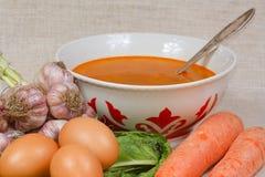 nya soupgrönsaker för ägg Royaltyfri Foto