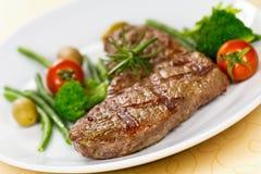 nya steakremsagrönsaker york Royaltyfri Foto