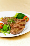 nya steakremsagrönsaker york Royaltyfri Fotografi