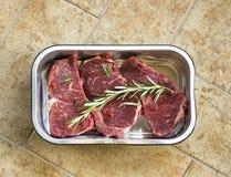 nya steaks arkivbild
