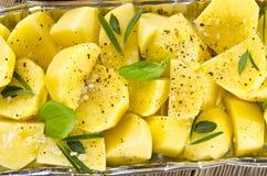 Nya stekte potatisar arkivbilder