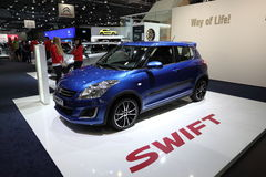Nya Suzuki Swift på den auto mobila internationalen Royaltyfria Foton