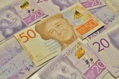 Nya svenska sedlar Arkivfoto