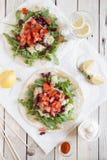 Nya taco med grönsaker Royaltyfria Bilder