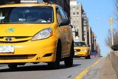 nya taxis york Royaltyfria Foton